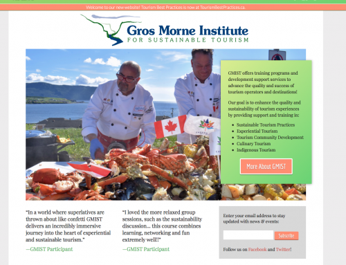 Frank Widmer mit «The Kilted Chef» Alain Bossé im Gros Morne Insitute